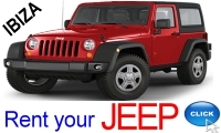 Rent your Jeep in Ibiza with Ibiza Rent a Car S.L.